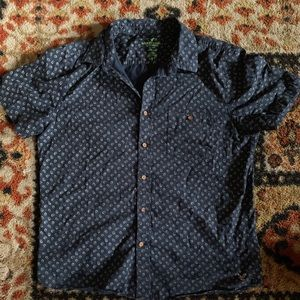 American eagle outfitters polka dot button up